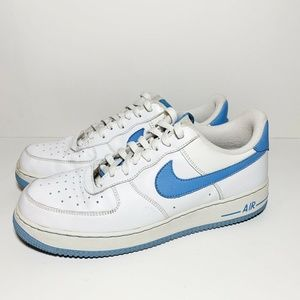 Nike Air Force 1 Sneakers White Blue 315122-148